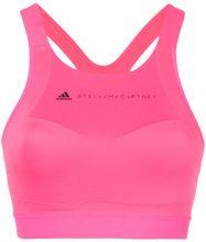 Adidas By Stella Mccartney - logo printed sports bra - women - Nylon/Polyester/Spandex/Elastane/poliestere riciclato - M, XS, S, L, XXS - PINK & PU...