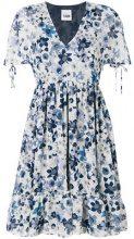 Twin-Set - floral print flared dress - women - Polyester/metal - L - BLUE