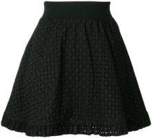 Love Moschino - Minigonna a trapezio - women - Cotton - 38, 40, 42, 44 - BLACK
