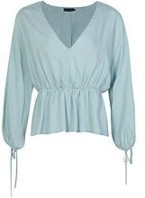Petite Tiffany Gathered Waist Batwing Top