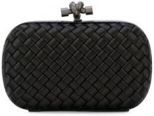 Bottega Veneta - nero Intrecciato impero knot - women - Leather/Polyester - One Size - Nero