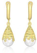 Carissima Gold - Orecchini Pendenti da Donna in Oro Giallo 9K (375) con Perle