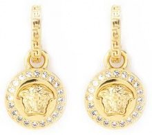 Versace - Greca and Medusa drop earrings - women - Metal (Other) - OS - METALLIC