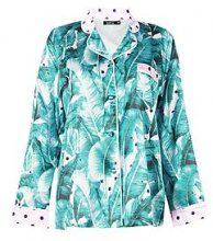 Evie Leaf Polka Dot Print Shirt Jacket