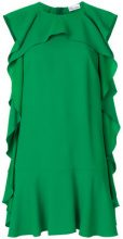 Red Valentino - ruffle shift dress - women - Acetate/Viscose - 38 - Verde