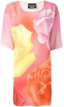 Boutique Moschino - roses print T-shirt dress - women - Polyester/other fibers - 42 - Rosa & viola