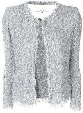 Iro - Cardigan 'Shavani' - women - Cotton/Polyamide - 38, 40, 42, 36 - GREY
