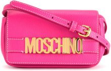 Moschino - branded shoulder bag - women - Calf Leather - OS - PINK & PURPLE