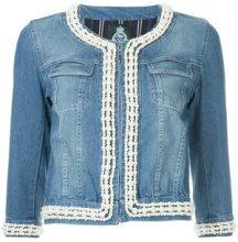 - Guild Prime - Giacca aderente - women - fibra sintetica/cotone/cotonefibra sintetica - 34 - di colore blu