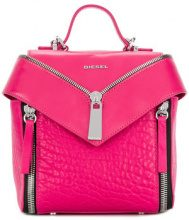 Diesel - Le-Kiimy II backpack - women - Polyamide/Leather - OS - PINK & PURPLE