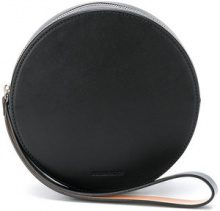 Building Block - round shape clutch bag - women - Leather - One Size - BLACK