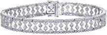 Naava Bracciale da Donna, Oro Bianco 375/1000, Diamante