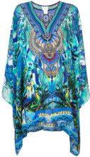 Camilla - multi-print flared dress - women - Silk - OS - BLUE