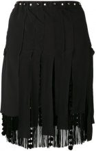 Nº21 - Minigonna sfrangiata - women - Silk/Polyester/Acetate/Viscose - 40, 42 - BLACK