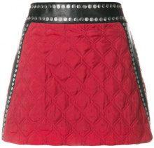 Alyx - Minigonna trapuntata - women - Leather/Cupro/Viscose - S, M - RED