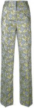 Essentiel Antwerp - Netro jacquard trousers - women - Cotton/Acrylic/Polyester - 36, 38 - GREY