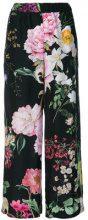 P.A.R.O.S.H. - Pantaloni ampi a fiori - women - Silk - XS, M, S, L - BLACK