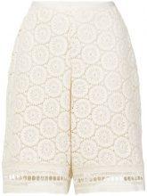 See By Chloé - Pantaloni corti in pizzo - women - Cotone - 34, 36, 42, 38 - WHITE