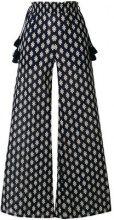 Tory Burch - diamond beach trousers - women - Cotone/Polyester - XS - BLUE