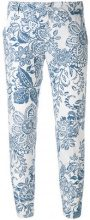 Fay - printed trousers - women - Cotton - 38, 42 - BLUE