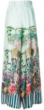 Black Coral - Pantaloni 'Palace Jungle' - women - Silk - XS, S, M, L - GREEN