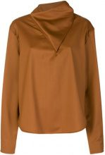 - Vejas - Blusa asimmetrica - women - lana - S, M - color marrone
