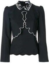 Vivetta - Camicia con rifiniture a contrasto - women - Cotton/Spandex/Elastane - 44, 42, 38, 40 - BLACK