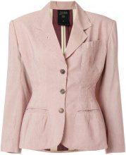 Jean Paul Gaultier Vintage - pinstriped blazer - women - Cotton/Viscose - 42 - NUDE & NEUTRALS