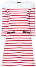 - Loveless - striped dress - women - cotone - 36 - di colore rosso