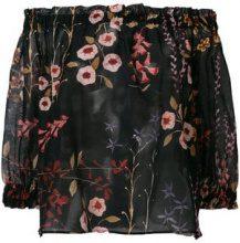 Emporio Armani - Blusa con spalle scoperte - women - Cotone/Silk - 42 - Nero