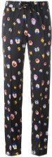 Christopher Kane - pansy print trousers - women - Silk/Acetate/Viscose - 40, 44, 46 - Nero