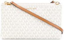 - Michael Michael Kors - Borsa a tracolla con logo stampato - women - Calf Leather/Leather - Taglia Unica - Bianco