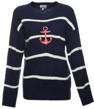 Pullover a maglia con ricamo ad ancora