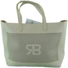 Borsa Shopping Renato Balestra Jeans  borsa shopping traforata a spalla beige