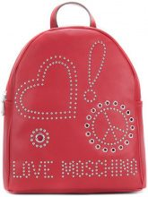 Love Moschino - Zaino con occhielli e borchie - women - Leather - OS - RED
