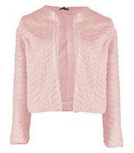 Hayley Crop Panelled Faux Fur Coat