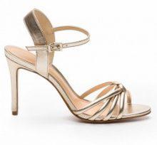 Sandali tacchi a spillo in pelle color oro Ajili/Me