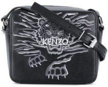- Kenzo - Borsa a tracolla Tiger - women - Leather/Nylon/Cotone - Taglia Unica - Nero
