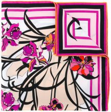 Emilio Pucci - Foulard a fiori - women - Silk - One Size - MULTICOLOUR