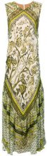 Alberta Ferretti - Vestito lungo stampato - women - Silk/Cotton/Spandex/Elastane/Acetate - 40, 42 - GREEN
