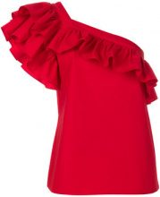 Philosophy Di Lorenzo Serafini - Top con dettaglio increspato - women - Cotton - 42 - RED