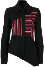 Gloria Coelho - asymmetric jacket - women - Polyamide/Wool - 42 - BLACK