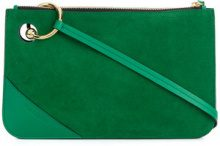 JW Anderson - Clutch 'Pierce' - women - Calf Leather/Suede - One Size - Verde