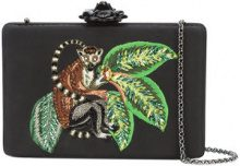 Oscar de la Renta - Rogan box clutch - women - Silk/glass - One Size - BLACK