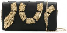 Red Valentino - snake embellished clutch - women - Calf Leather - One Size - BLACK