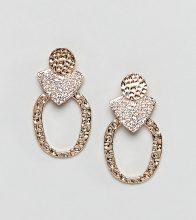 Reclaimed Vintage Inspired - Orecchini martellati - Oro
