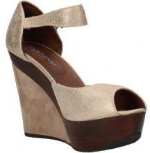Sandali Carmens Padova  scarpe donna  sandali platino pelle scamosciata AF496