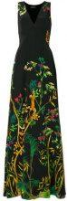 Alberta Ferretti - Vestito lungo - women - Silk/Cupro/Acetate/Spandex/Elastane - 42 - BLACK