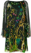 Alberta Ferretti - Vestito stampato - women - Silk/Spandex/Elastane/Acetate - 48 - BLACK