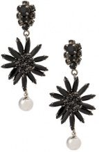Marni - Orecchini pendenti a fiore - women - metal/glass - OS - BLACK